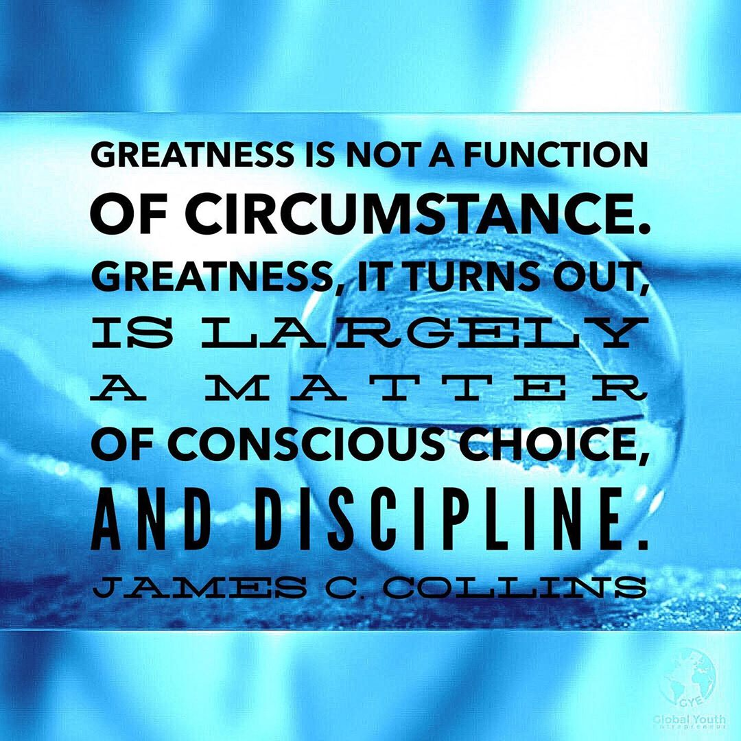 Make conscious choices that express your understand of greatness